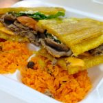 Steak Jibarito Sandwich w/Arroz Con Gandules